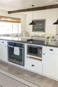 Microwave In Island In Kitchen by I Like How The Seating Is Attached To The Counter And How