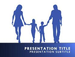 Royalty Free Family Powerpoint Template In Blue Family Powerpoint Templates