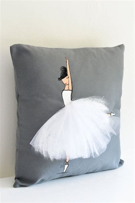 machen akzent kissen ballerina room decor ballerina decorative pillow