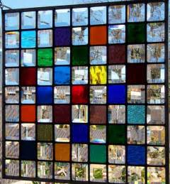gallery glass window color oak framed multi color stained glass window