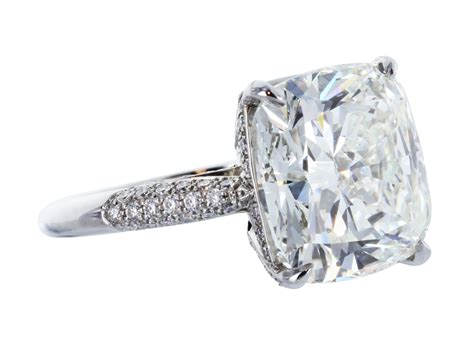 single cushion cut engagement rings cushion cut