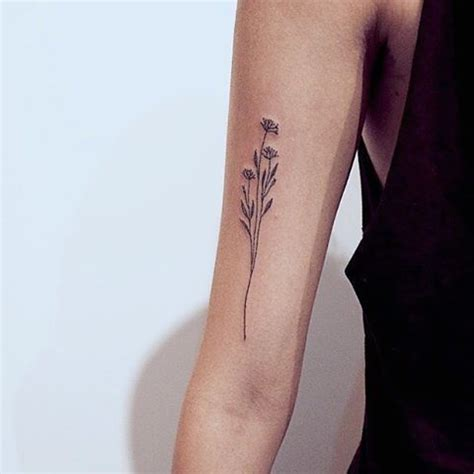delicate tattoo inspiration 25 best ideas about wildflower tattoo on pinterest