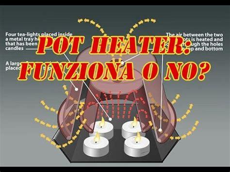 riscaldamento vasi terracotta esperimento 5 4 candele e 2 vasi riscaldamento