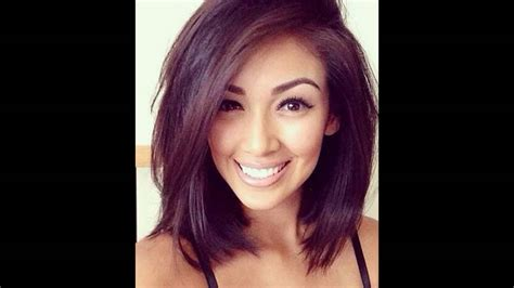 hairstyles for thick hair on youtube layered medium bob hairstyle for thick hair youtube