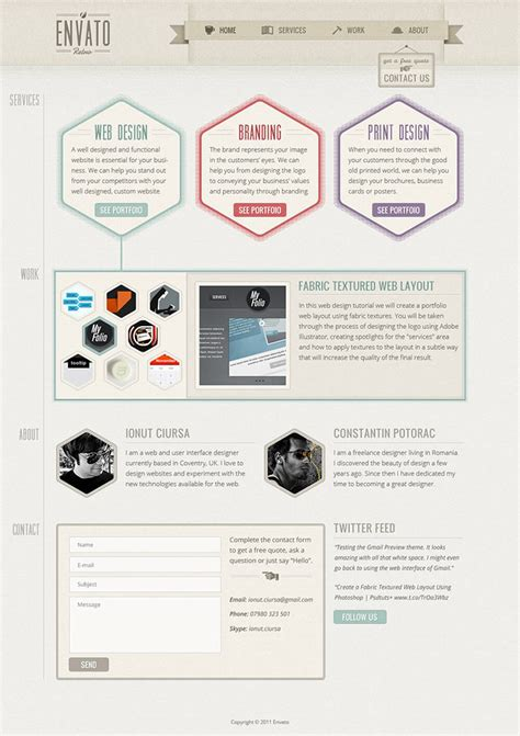 Layout Design Tutorial | 48 excellent tutorials for designing websites in photoshop