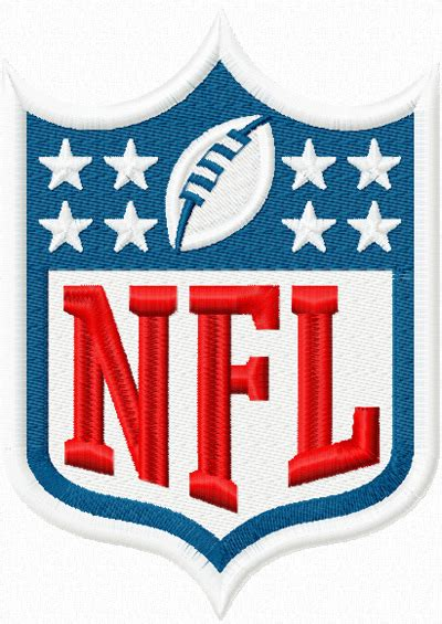 embroidery pattern logo nfl logo machine embroidery design for uniform and gifts