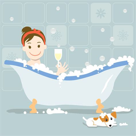 Bathtub With Bubbles by National Bath Day Hip New Jersey
