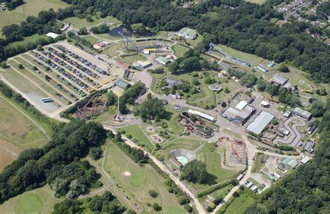 theme park lowestoft pleasurewood hills aerial theme park in suffolk on the