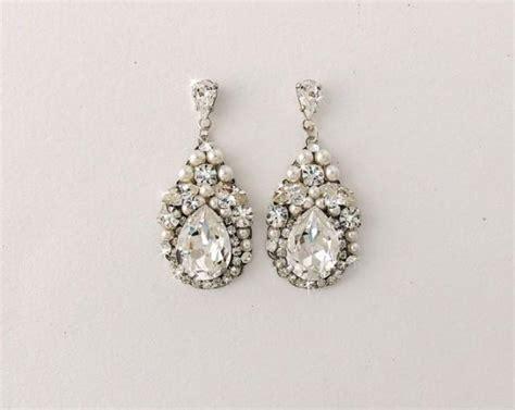 Vintage Style Bridal Pearl Earrings Pearl Earrings Wedding by Wedding Earrings Bridal Earrings Vintage Style