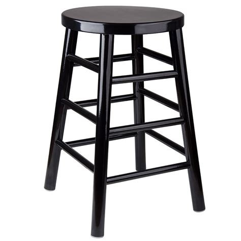 Black Metal Counter Height Bar Stools by Lancaster Table Seating 24 Quot Black Metal Woodgrain