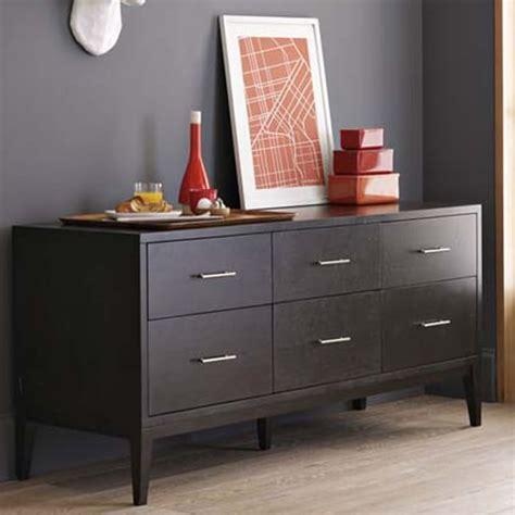 Small 6 Drawer Dresser by Narrow Leg 6 Drawer Dresser Chocolate West Elm