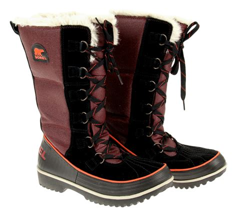 sorel tivoli high winter boots s sorel s tivoli high ii canvas winter boots maroon size 8
