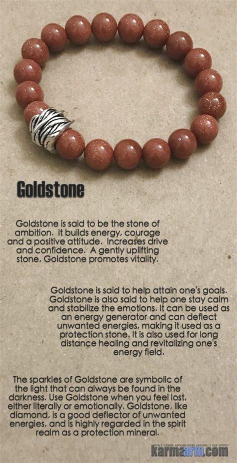 success goldstone yoga chakra reiki healing bracelet