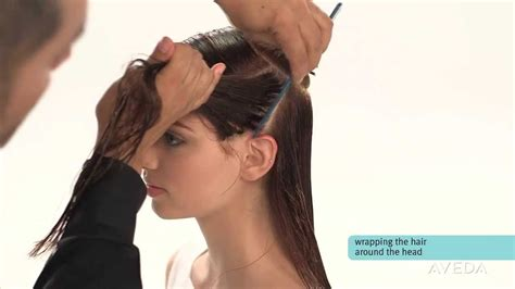 how to wrap short hair and keep hairstlyle aveda how to smooth and straighten hair with a wrap