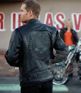 Light Leather Jacket Mens 98099 07vm Harley Davidson 174 Mens Reflective Skull Black