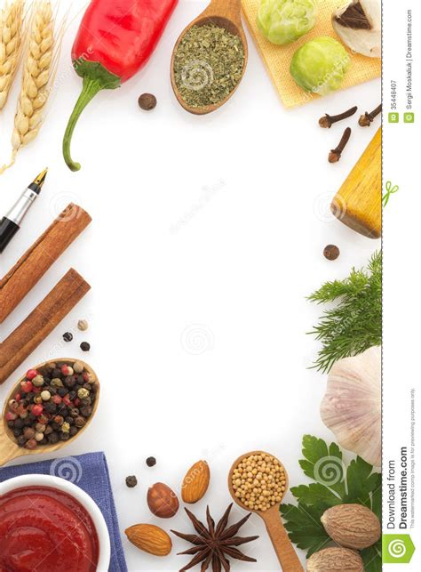 L Kitchen Designs by Food Ingredients And Spices Stock Image Image 35448407