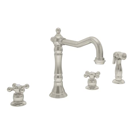 Symmons Kitchen Faucets Symmons 2 Handle Standard Kitchen Faucet With Side Sprayer In Satin Nickel S 2650 2
