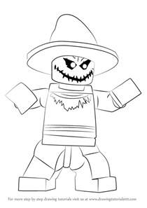 learn draw lego scarecrow lego step step drawing tutorials