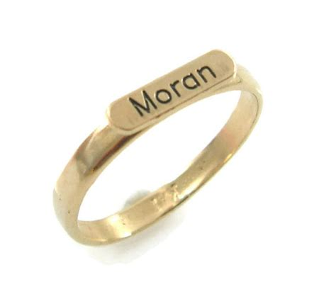 gold name ring gold ring personalized name ring word ring