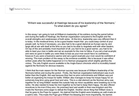 battle of hastings essay why did william win the battle
