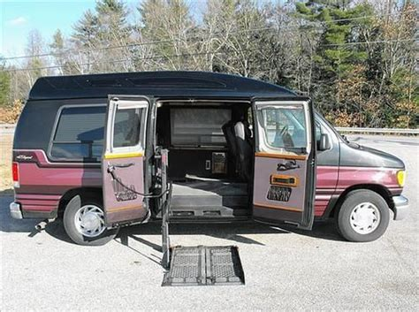 how make cars 1997 ford econoline e150 head up display buy used 1997 ford e150 handicap wheelchaie van deluxe pac no reserve in exeter new hshire