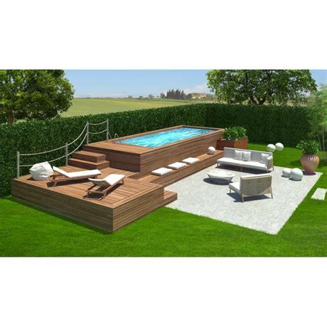 rivestimento in legno per piscine fuori terra piscina fuori terra con solarium peronalizzato