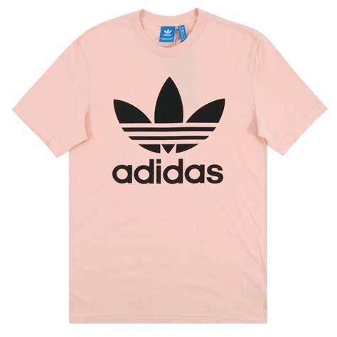 Adidas Logo V Neck Vapour Pink Original adidas originals original trefoil t shirt vapour pink mens clothing from attic clothing uk
