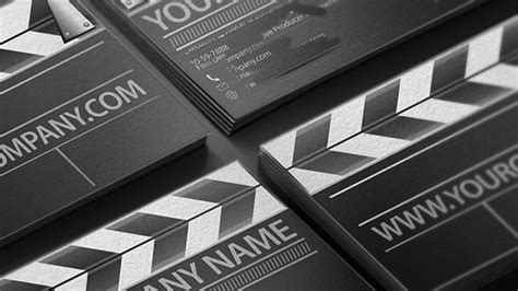 clapperboard business card template the business of filmmaking part 4 arts the