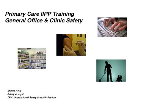 section primary health center general office clinical safety