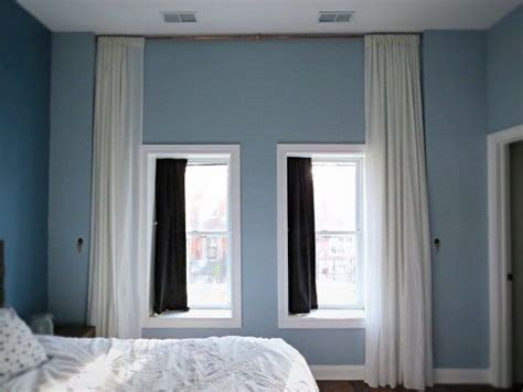 wall to wall curtains in bedroom let s make a giant floor to ceiling curtain hometalk