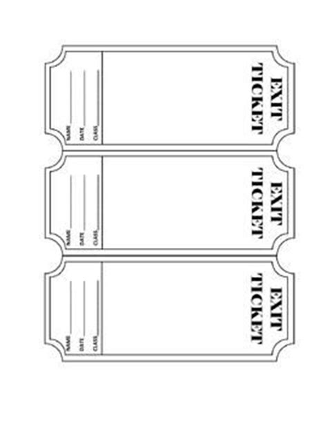 Ticket Out The Door Template by Exit Ticket Template Editable Ticket Out The Door