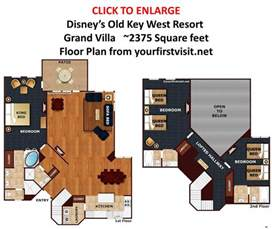 key west 1 bedroom villa floor plan grand villa floor plan disneys key west resort from