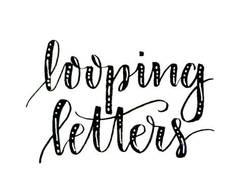beginner brush lettering looping letters amy latta