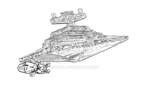 star wars coloring pages star destroyer blockade runner by jasonpal on deviantart
