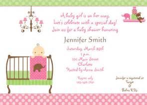 Baby shower invitation baby girl shower by thebutterflypress