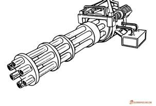 coloring pages guns collections