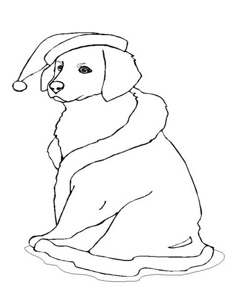 christmas coloring pages of puppies christmas dog coloring pages az coloring pages