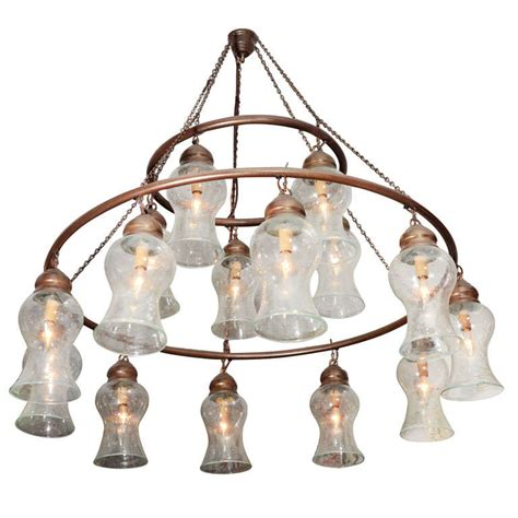 Bell Shaped Chandelier Handblown Chandelier With Clear Bell Shaped Glass At 1stdibs