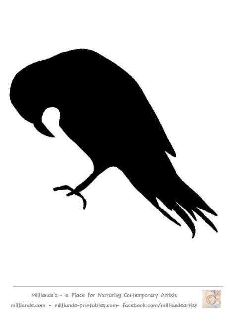 bird silhouette stencil templates crow free printable