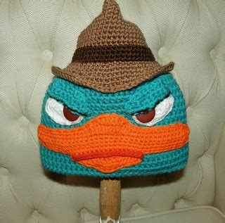 artist hat pattern ravelry platypus in a fedora agent perry inspired hat