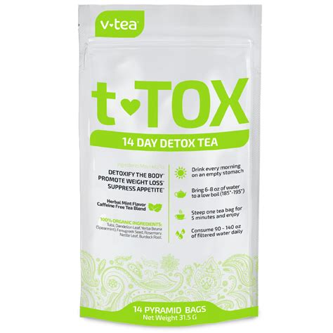 Best 14 Day Detox Cleanse by V Tea Original Teatox 14 Day Detox Tea