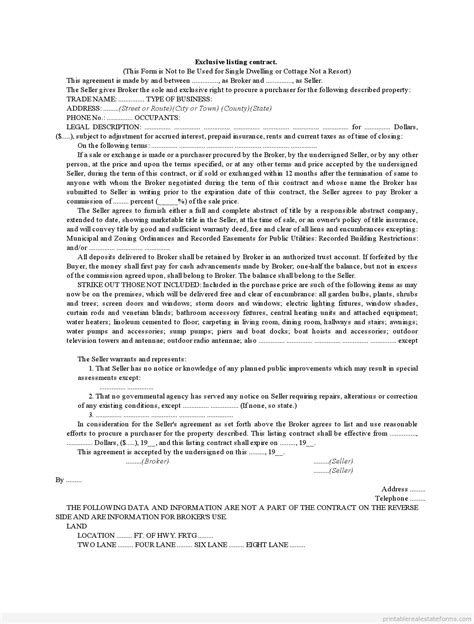Exclusive Listing Contract0001 Images Frompo Food Broker Contract Template