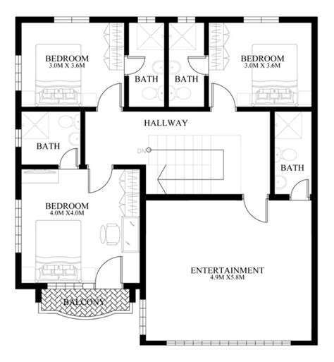 contemporary house design mhd 2014011 eplans