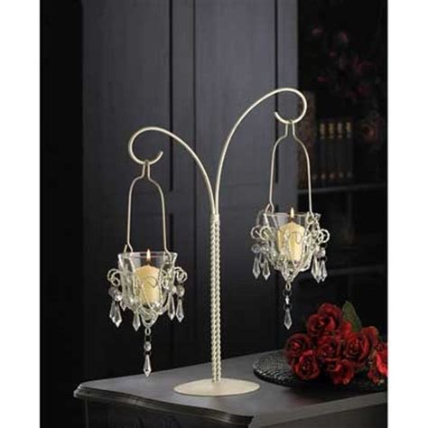 hanging votive candle holders wedding details about white 17 quot beaded chandelier