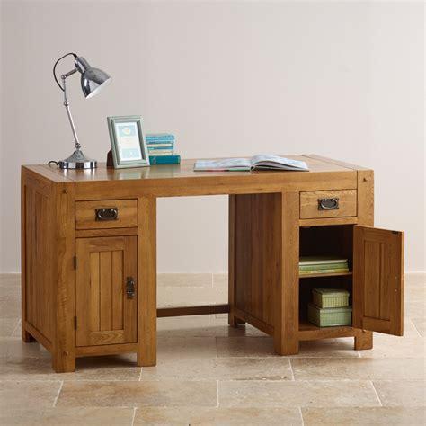 oak furniture land computer desk quercus computer desk rustic oak oak furniture land