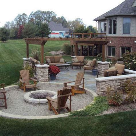 build firepit area for summer nights relaxing