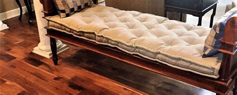 custom tufted bench cushion tufted wool filled bench cushion 100 linen custom for