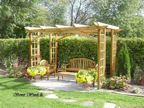 Backyard Arbors Ideas by Construire Une Pergola Pergolas Garden Structures And