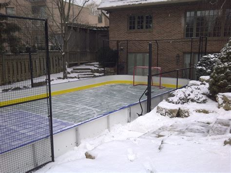 how to turn your backyard court into an rink