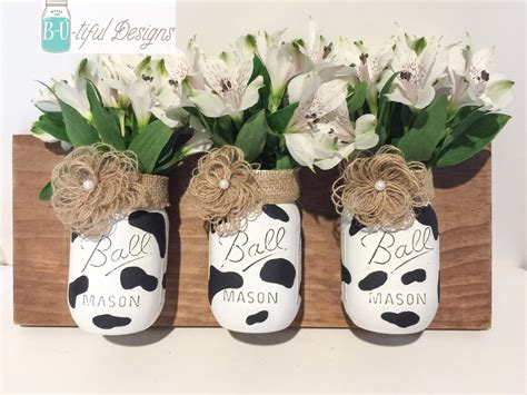 Cow Kitchen Accessories by Cow Print Jars Wall Kitchen Decor By Butifuldesigns